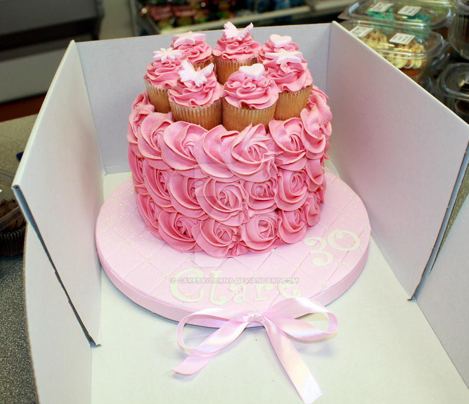 Pink Buttercream Roses Birthday Cake By Cakesbylorna On Deviantart