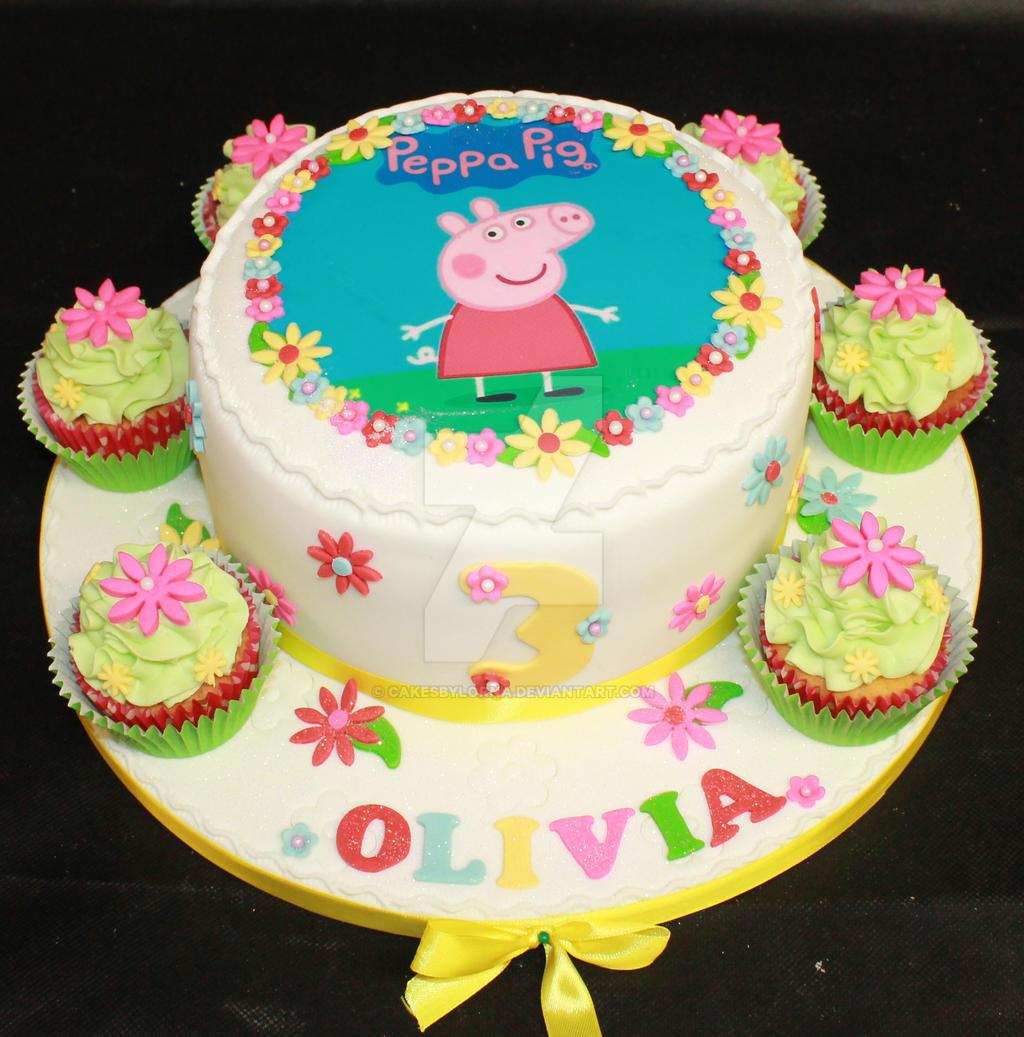 Peppa Pig Birthday Cake By Cakesbylorna On Deviantart