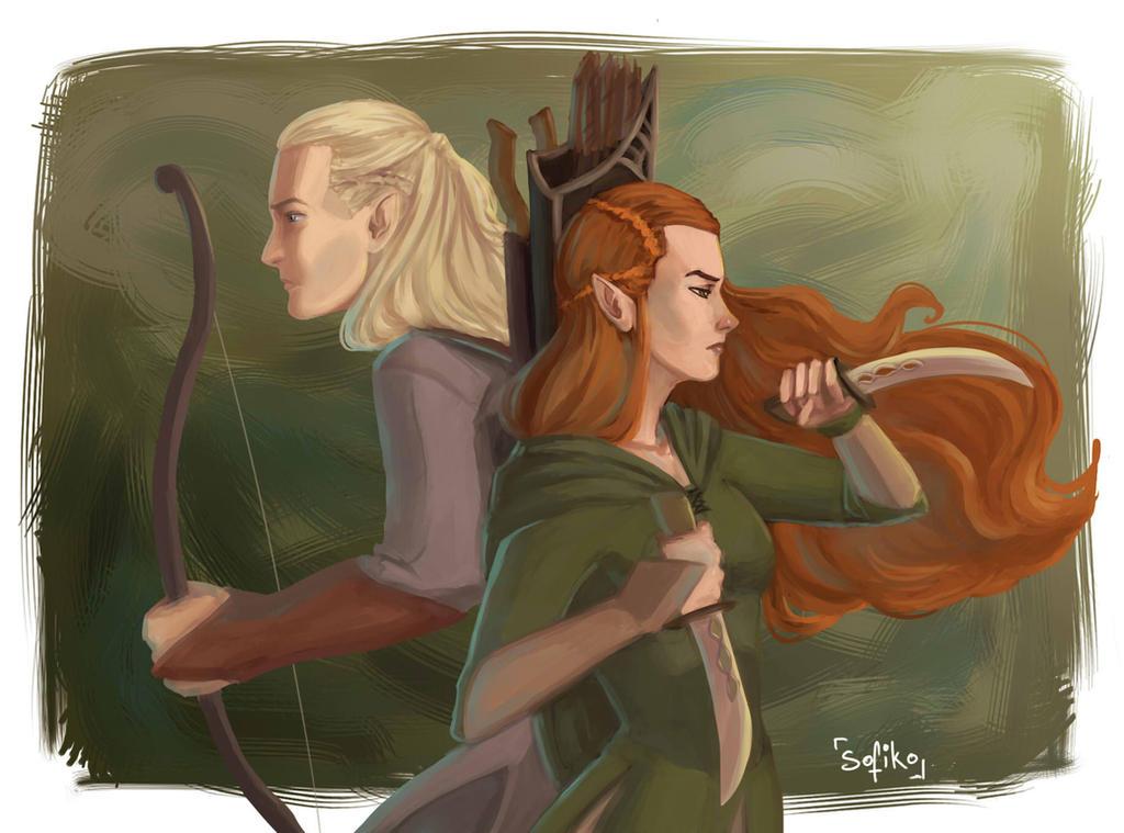 Legolas And Tauriel by sofiko-chan