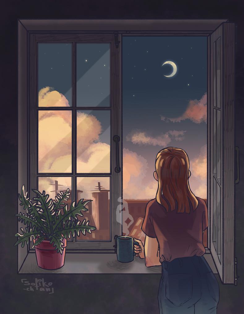 view through the window by sofiko-chan