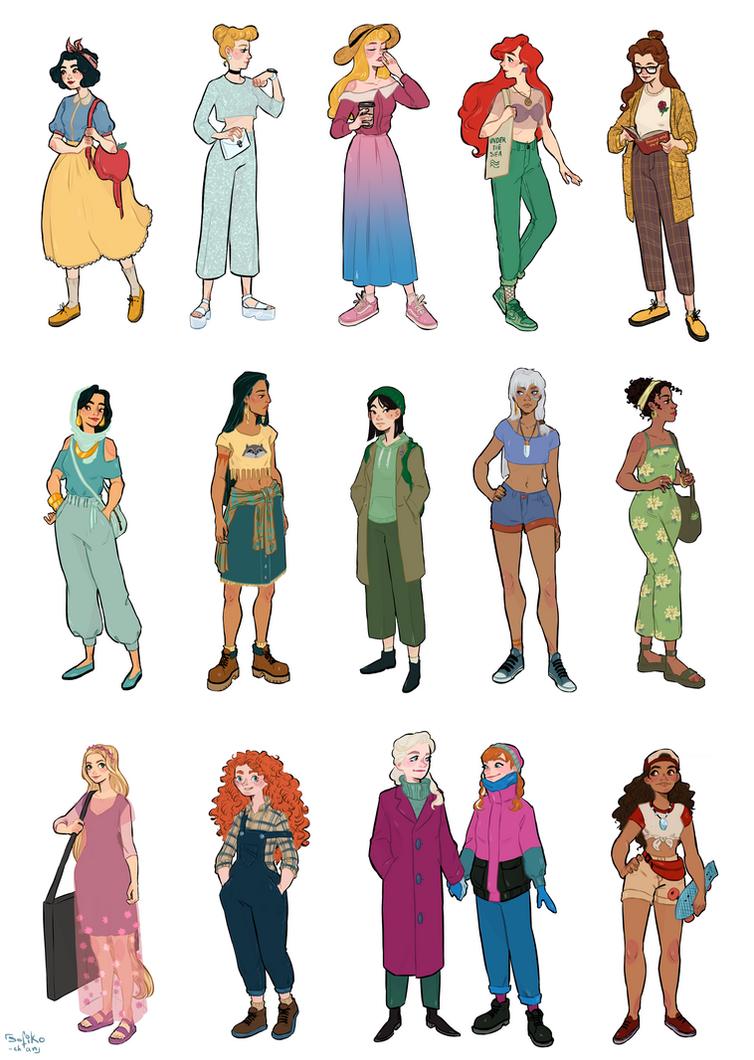 modern disney princesses by sofiko-chan