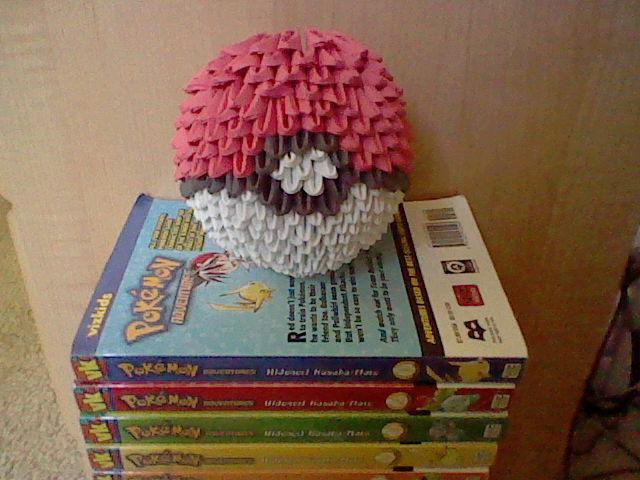 3d Origami Pokeball By Pandas55 On Deviantart