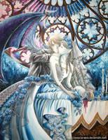 Lucifer and His Bride by la-sera