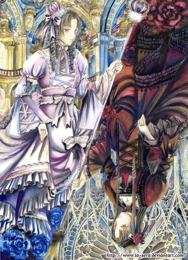 Gothic vs Lolita by la-sera