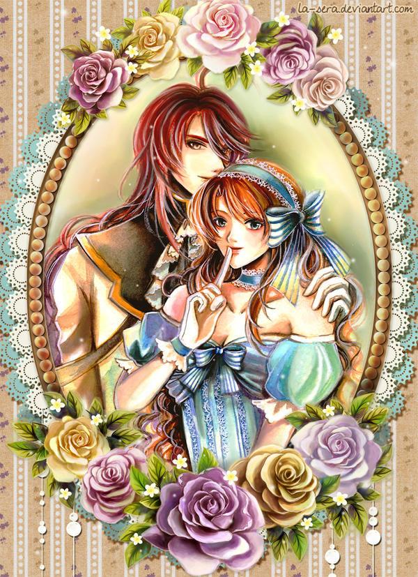 comm Khrazah: Rufus and Elizabeth by la-sera
