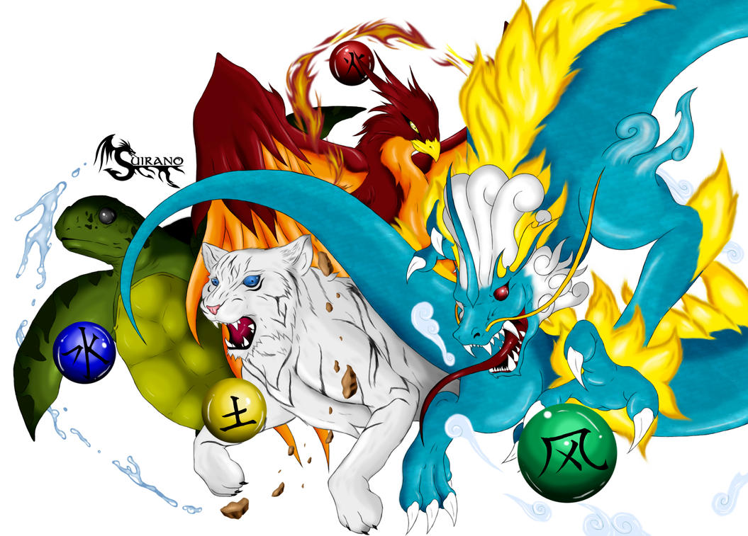 Elements Of Art Drawing : The four elements by suirano on deviantart