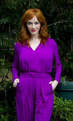 Christina Hendricks At Mad Men Press Conference In