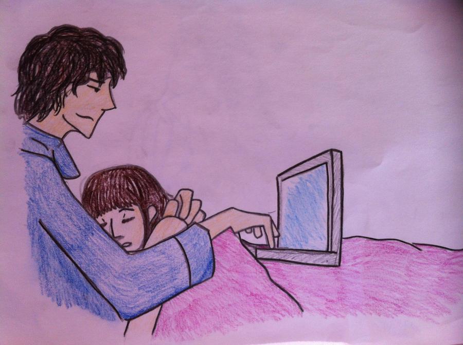 cute couple sleeping by owlbots on DeviantArt