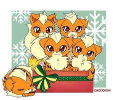 Growlithe Christmas by Ichigochichi