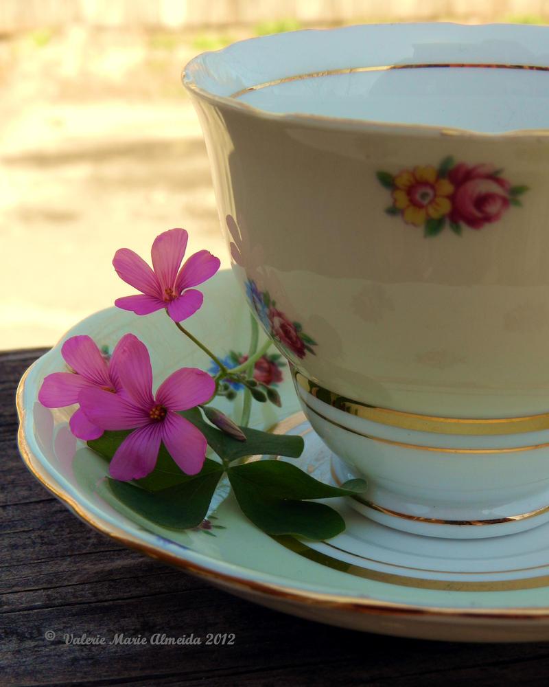 Yellow Tea Cup by Keziamara