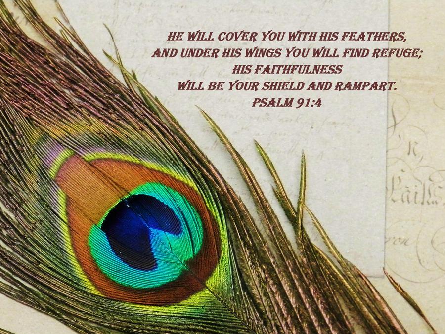 Psalm 91:4 by Keziamara