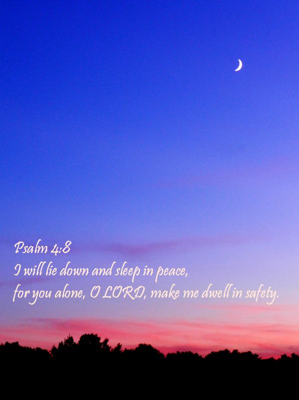 Psalm 4:8 by Keziamara