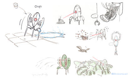 Turret doodles [Portal] by 0xconfig