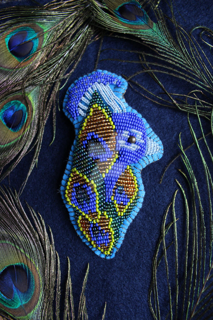 Peacock brooch 1 by akville