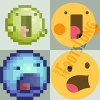 DeviantArt emoticons but modernized