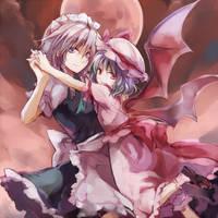 Sakuya and Remilia by Hernan6000