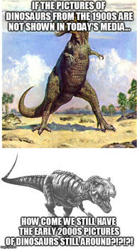 Some older pictures of dinosaurs are still around