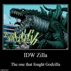IDW Zilla meme