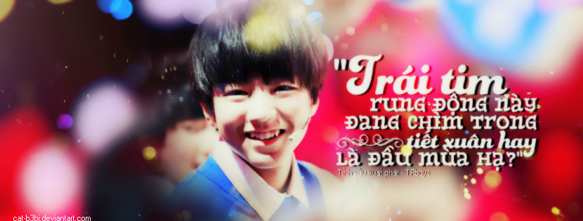 [Cover facebook] Wang Jun Kai - Karry TFBoys by cat-b3bi