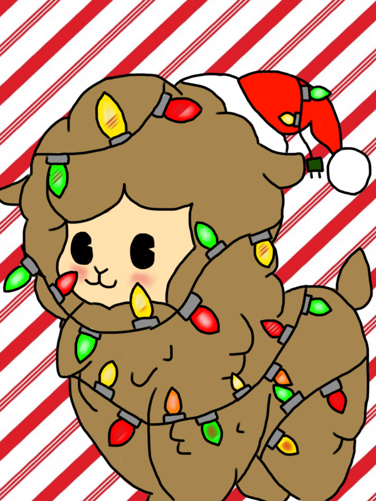 Merry Christmas! Have a Christmas Alpaca! by Floof-Cat-101 on ...