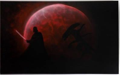 Darth Vader vs Alien by Msyt