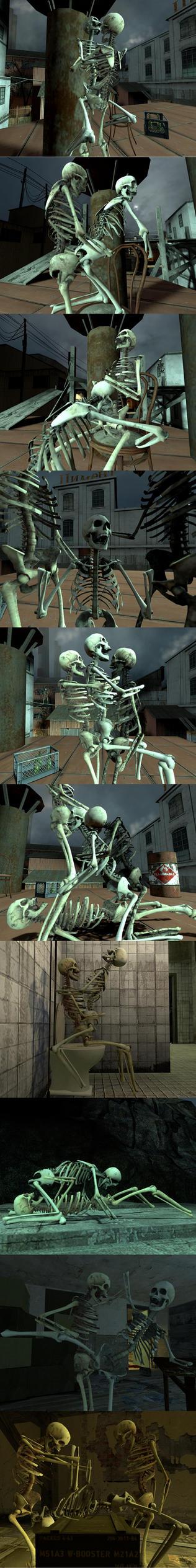 Skeleton Porn by DevilTraitor