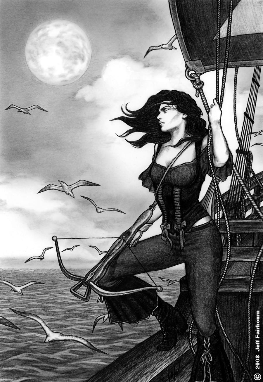 Female pirate drawing - photo#54