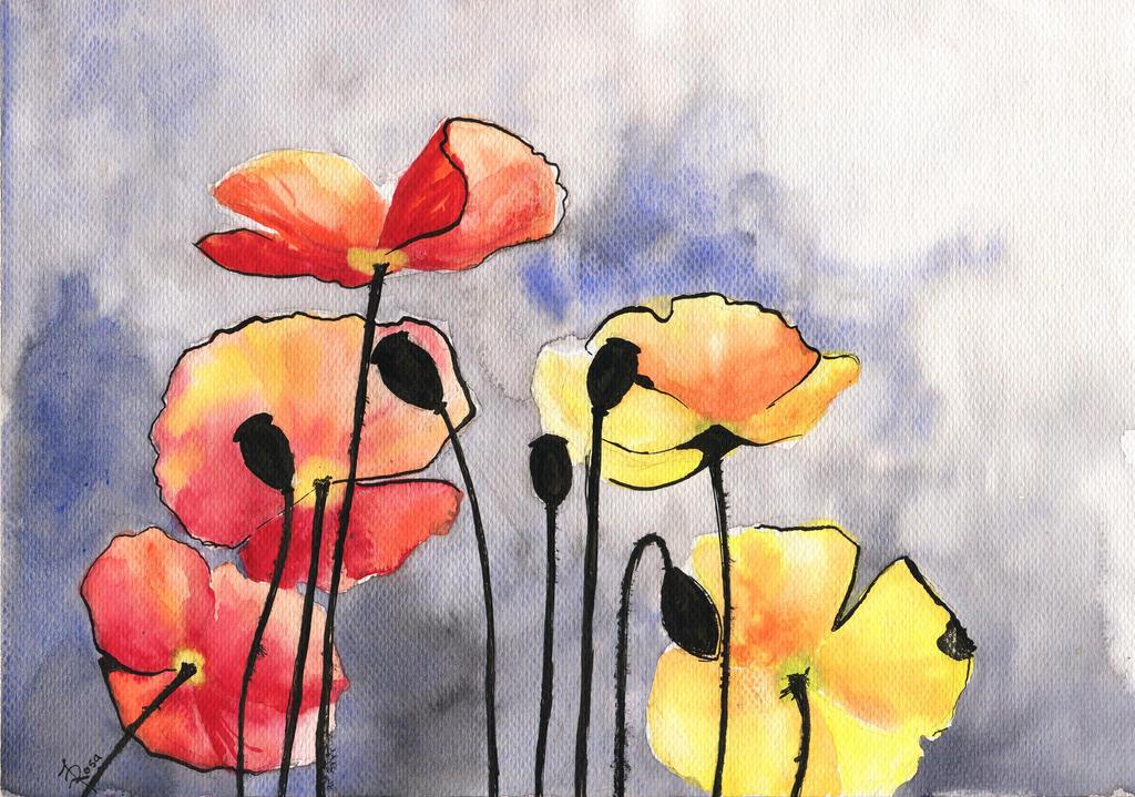 Poppies by JoaRosa