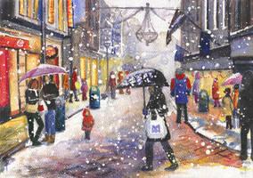 Christmas rush by JoaRosa
