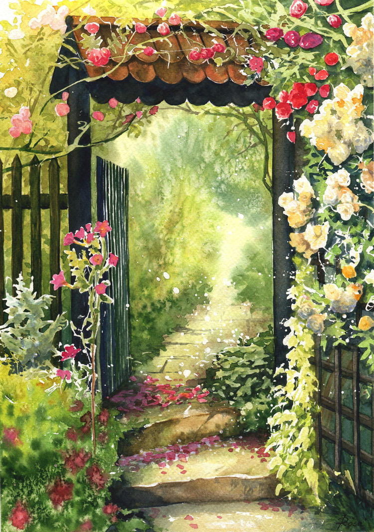 Rose garden by JoaRosa