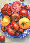 Summer tomatoes by JoaRosa