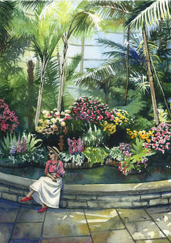 Orchid garden with Atlantic Pacific