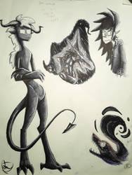 Sketch Page 3 by Dragonwysper