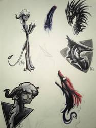 Sketch Page 4 by Dragonwysper