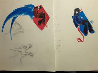 Watercolor Marker Doodles by Dragonwysper