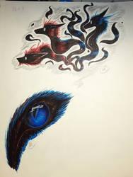 Watercolor Marker Doodles #2 by Dragonwysper