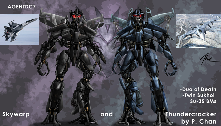 Skywarp and Thundercracker by agentdc7