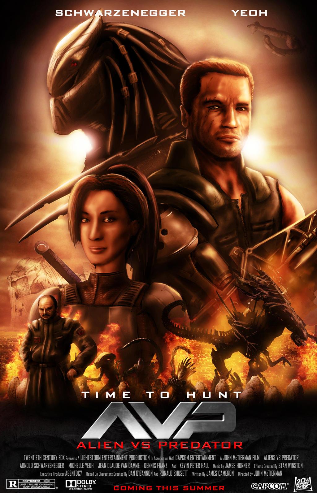 Alien Vs Predator - Movie Poster Capcom Version by ...