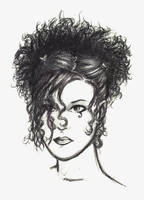 Crazy haired girlie by ommony