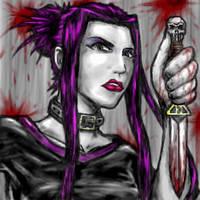 Goth girl oekaki by ommony