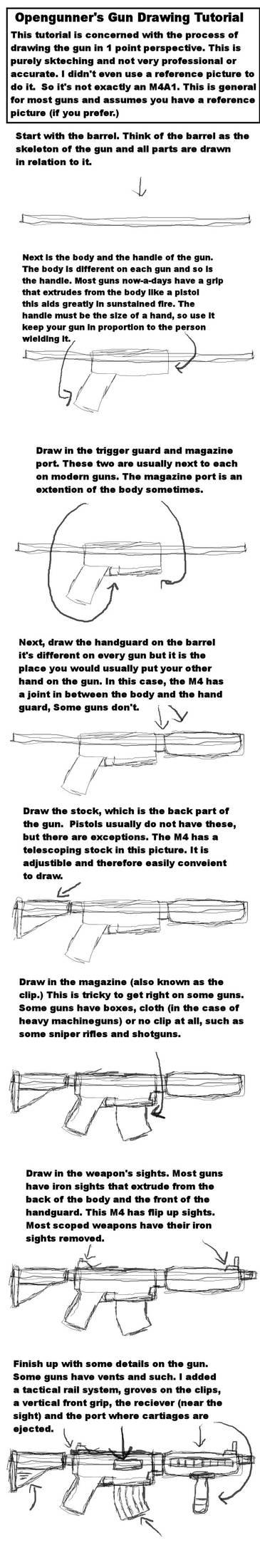 Simple Gun Drawing Tutorial By Opengunner On Deviantart