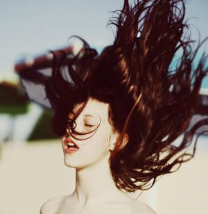 El pelo al viento
