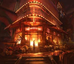 Bioshock Infinite - Market Fire by Benlo