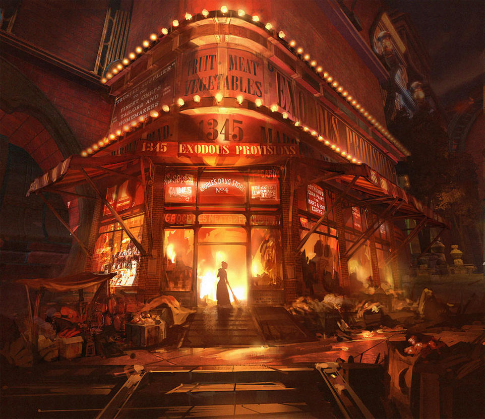 Bioshock Infinite - Market Fire by Benlo