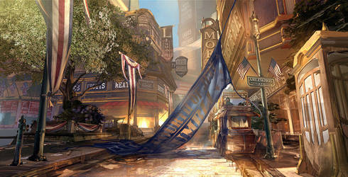 Bioshock Infinite - Early street concept by Benlo