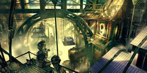 Bioshock Infinite - Early Finkton concept
