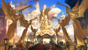 Bioshock Infinite - Columbia entrance by Benlo
