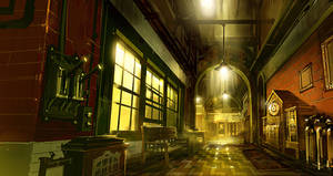 Bioshock Infinite: Finkton Hallway by Benlo