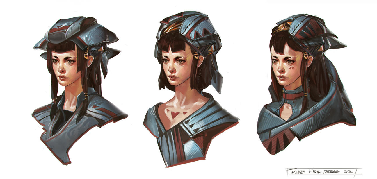 Tribal Head Dress 02 by Benlo