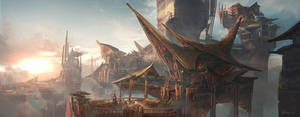 Tribe World cityscape by Benlo